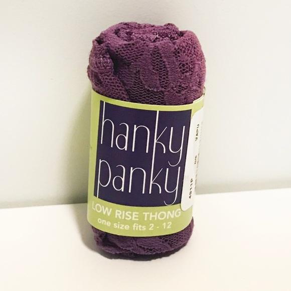 Hanky Panky Other - Hanky Panky Low Rise Thong (Purple)